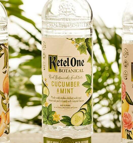 Ketel One Botanical, bottles with natural background, featured image