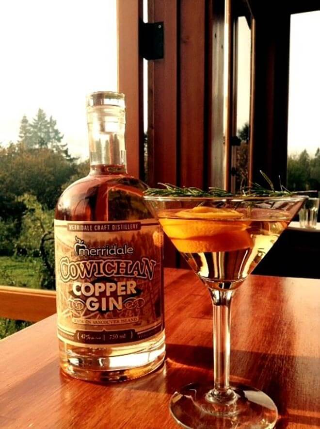 Merridale Cowichan Copper Gin Cocktail