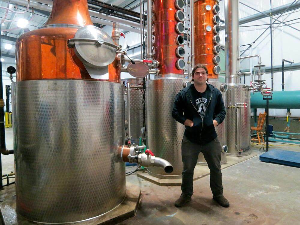 Michael Pizzitelli at Arbutus Distillery