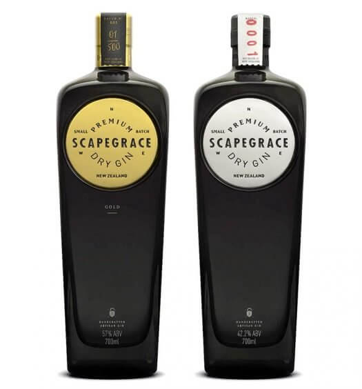 Scapegrace Gin, bottles on white, featured image