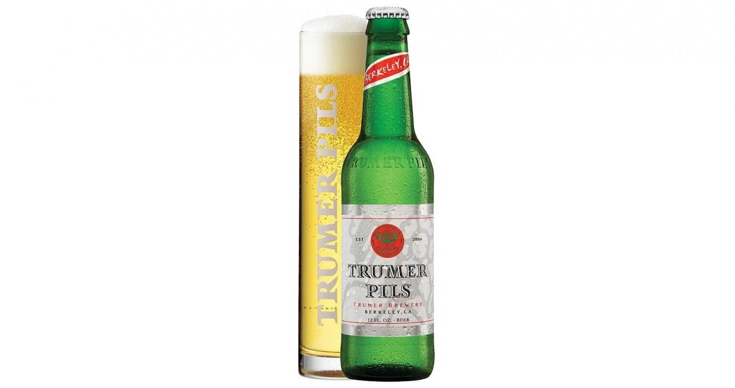 Trumer Pils, bottle and draft, featured image