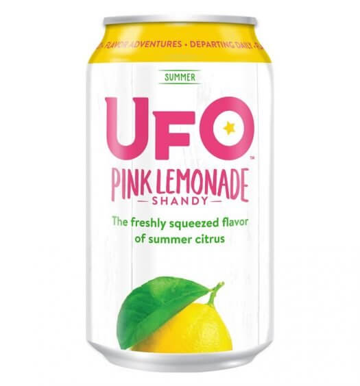 UFO Pink Lemonade Shandy, can on white, featured image