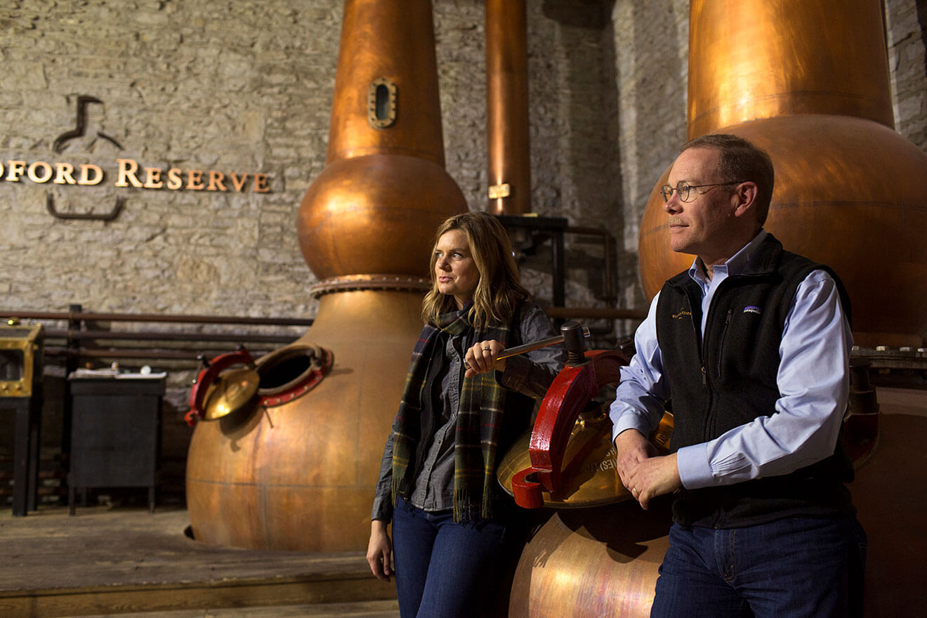 Woodford Reserve's Assistant Master Distiller Elizabeth McCall and Master Distiller, Chris Morris