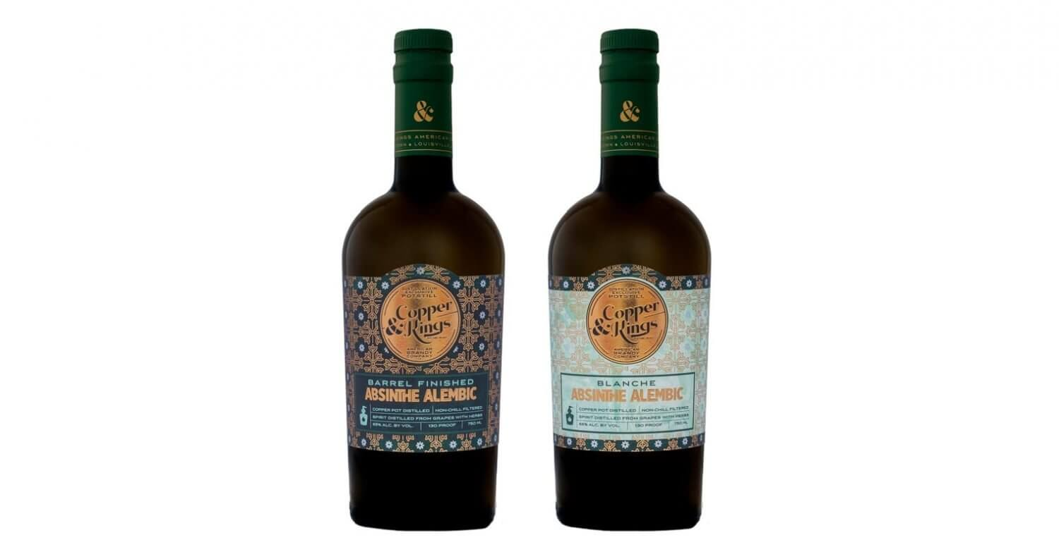 Copper & Kings Absinthe, bottles on white, featured image