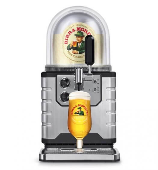 Birra Moretti and BLADE, draught system on white, featured image