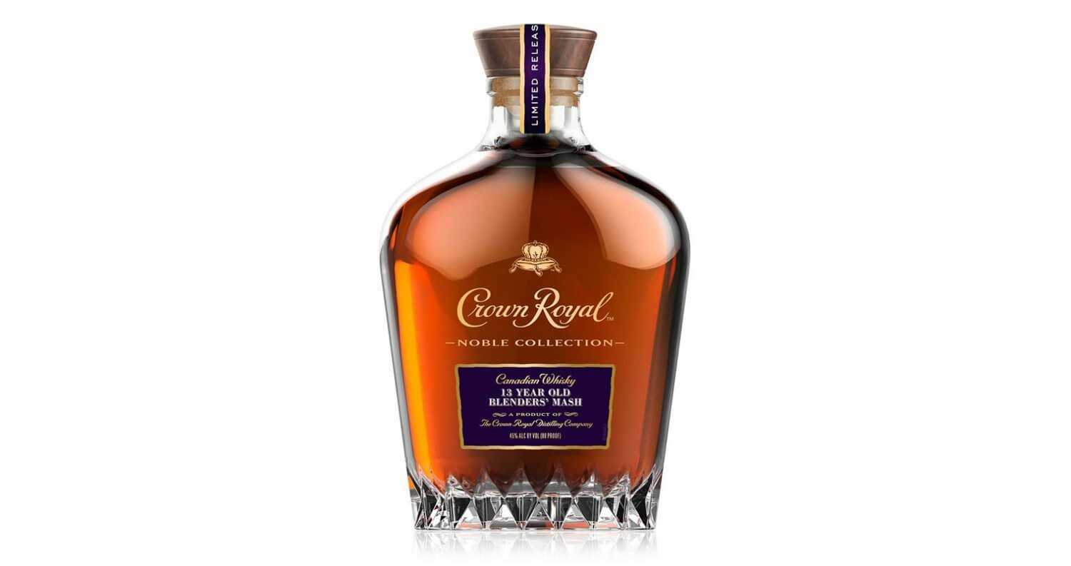 Crown Royal 13-Year-Old Blenders' Mash, bottle on white, featured image