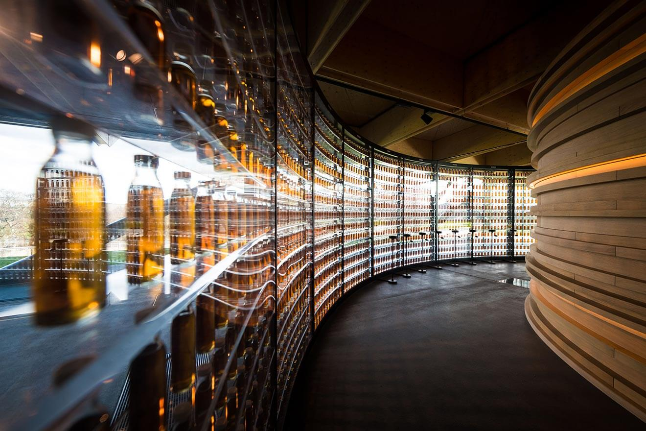 The Macallan New Distillery, aging room, curved