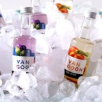 Van Gogh Mini-Tails, bottles on ice display, featured image