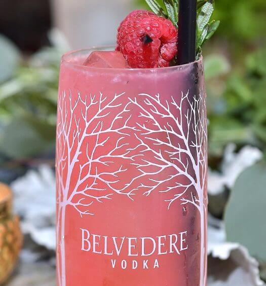 Belvedere Beautiful Future, cocktail and garnish on table featured image