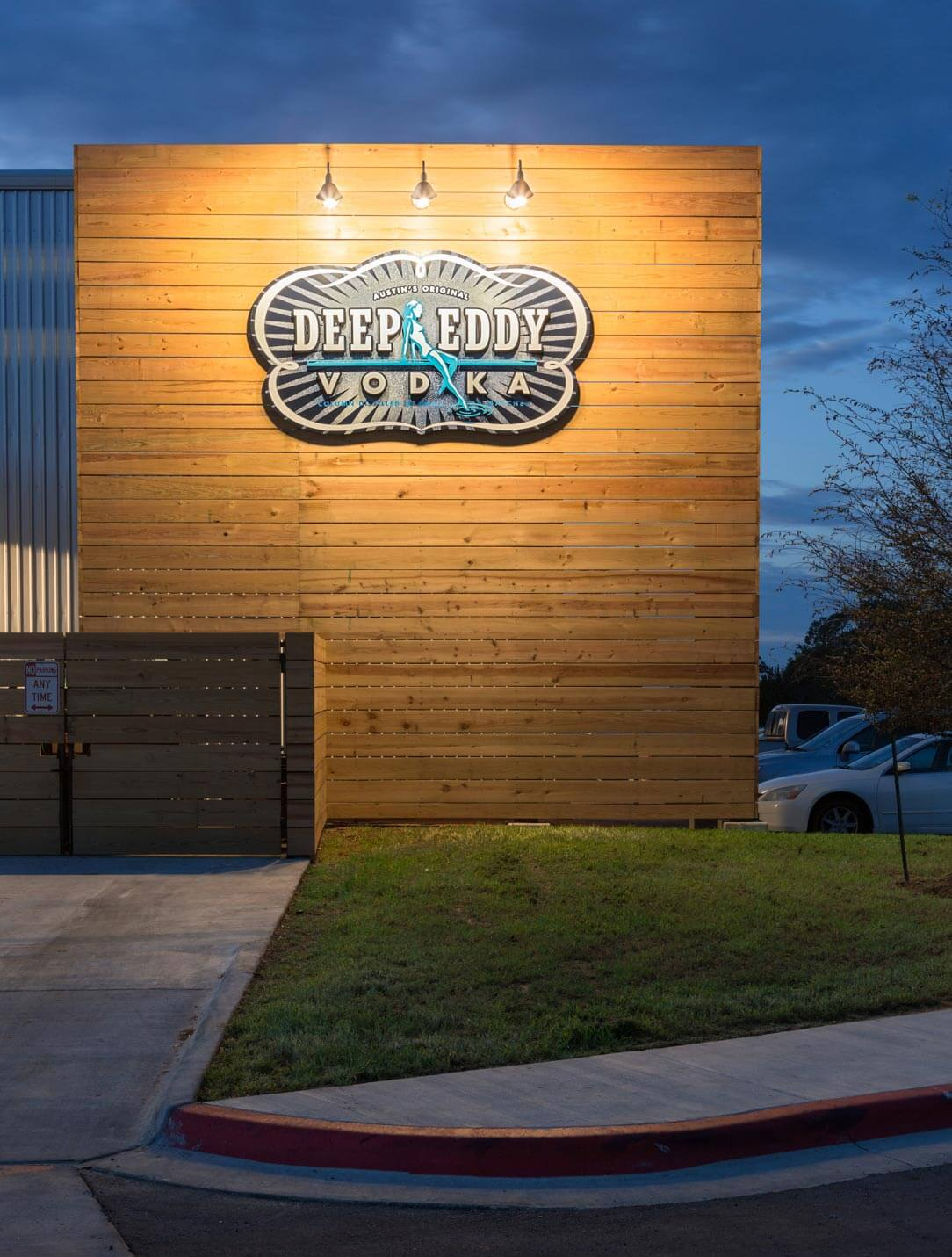 Deep Eddy Vodka Tasting Room Outside Signage