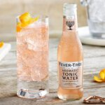 Fever Tree Pink Aromatic Tonic, bottle and glass, featured image