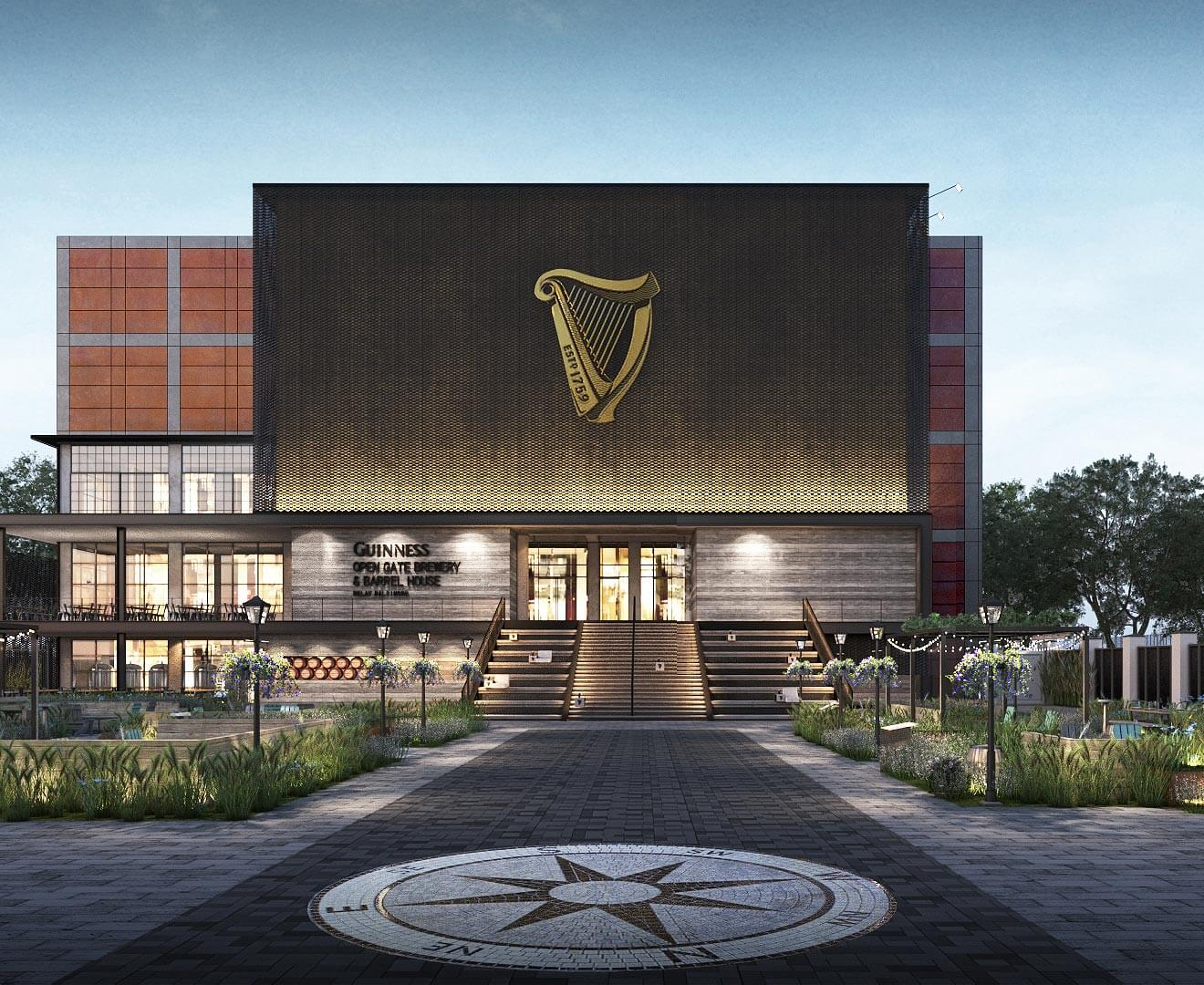 Guinness Open Gate Brewery & Barrel House, front entrance