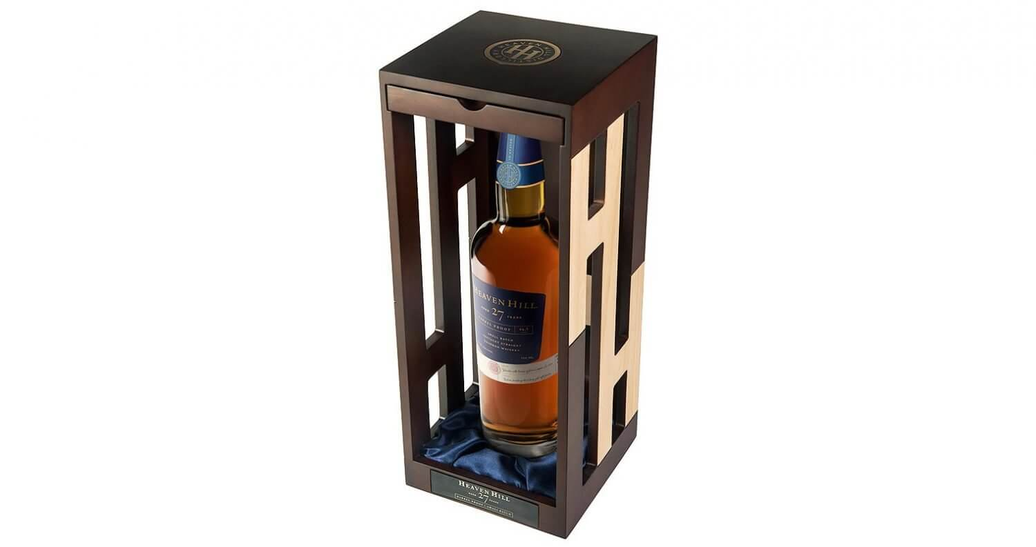 27-Year-Old Barrel Proof Small Batch, bottle in package, angle over head view, feautred image