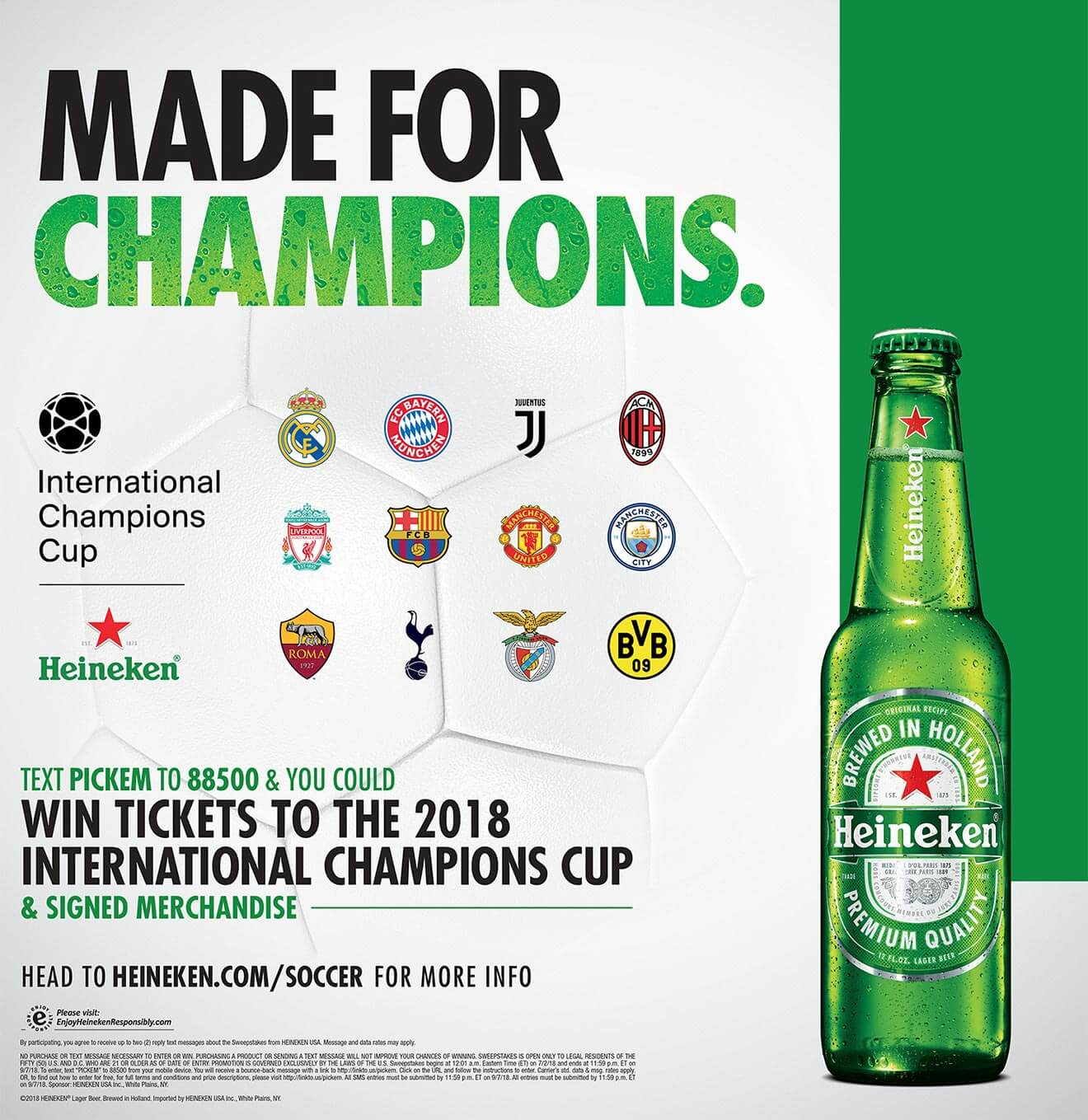 Heineken and the ICC, promotional poster