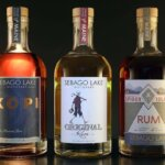 Sebago Lake Distillery High End Craft Rum, bottles on dark back, featured image