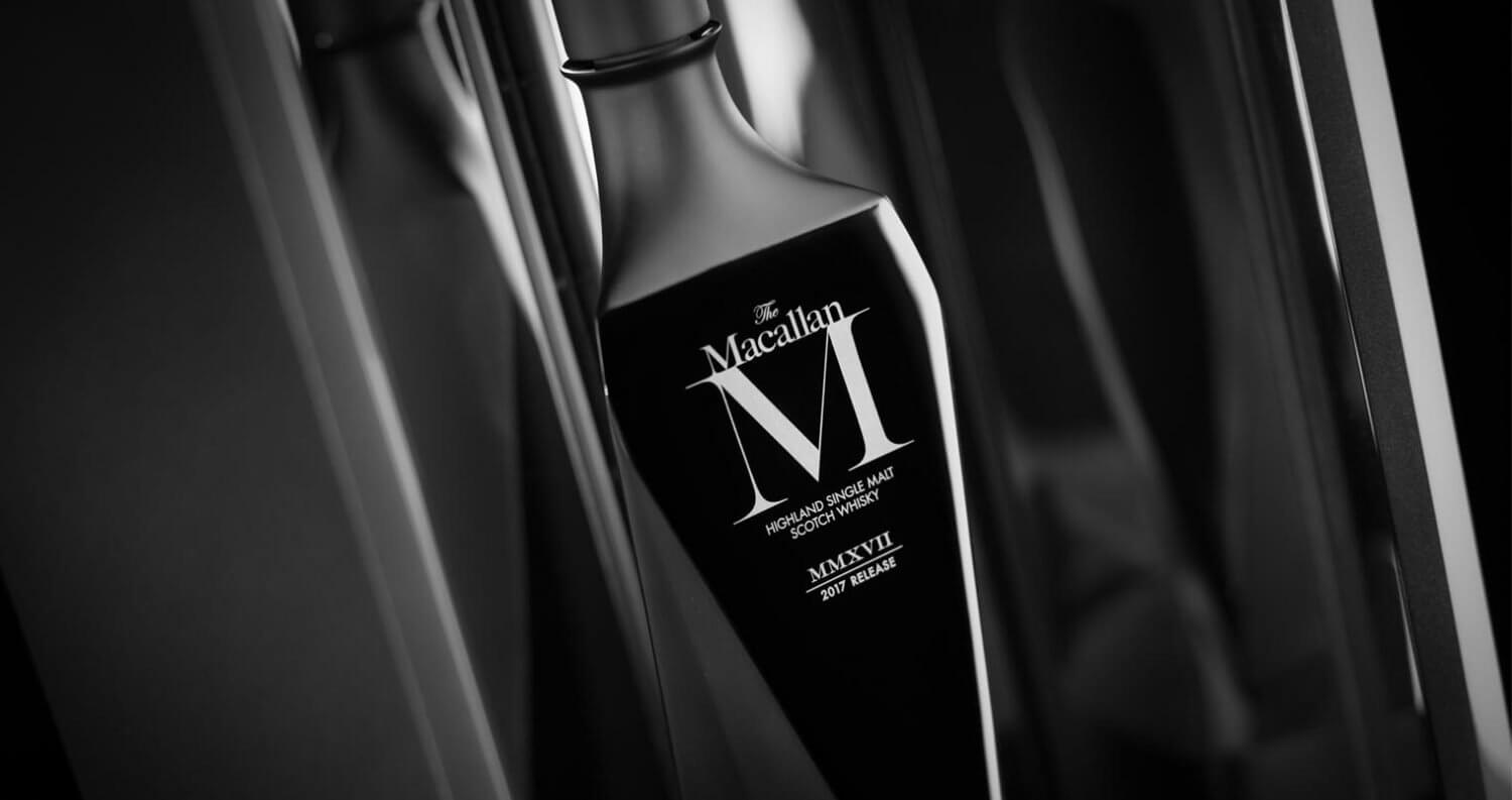 The Macallan M Black, black background