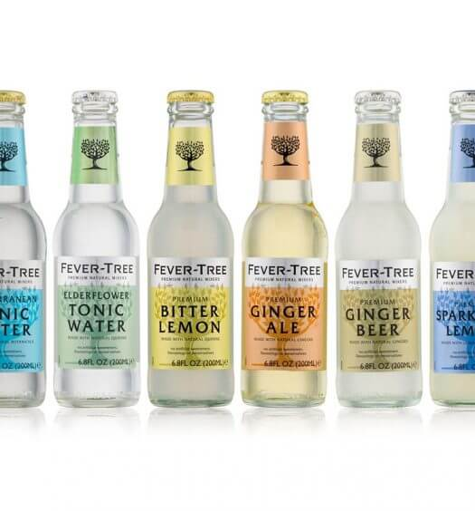 Fever-Tree Flavor Range, bottles displayed on white, featured image