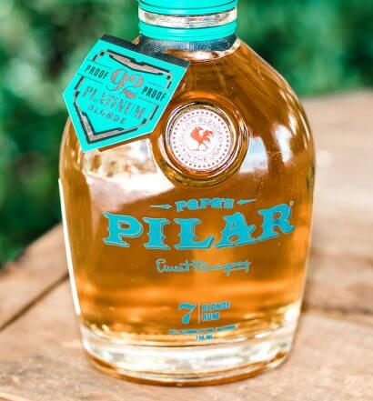 Papa's Pilar Platinum Blonde Limited Edition Rum, bottle on table, featured image