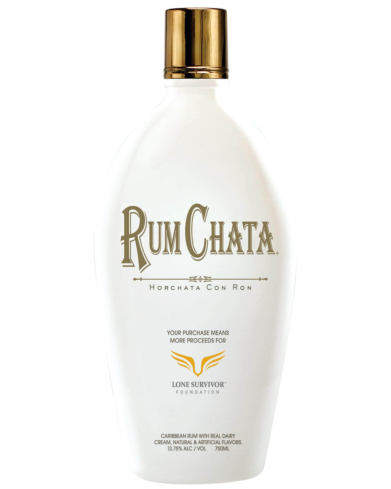 RumChata Freedom Bottle 2018, bottle on white