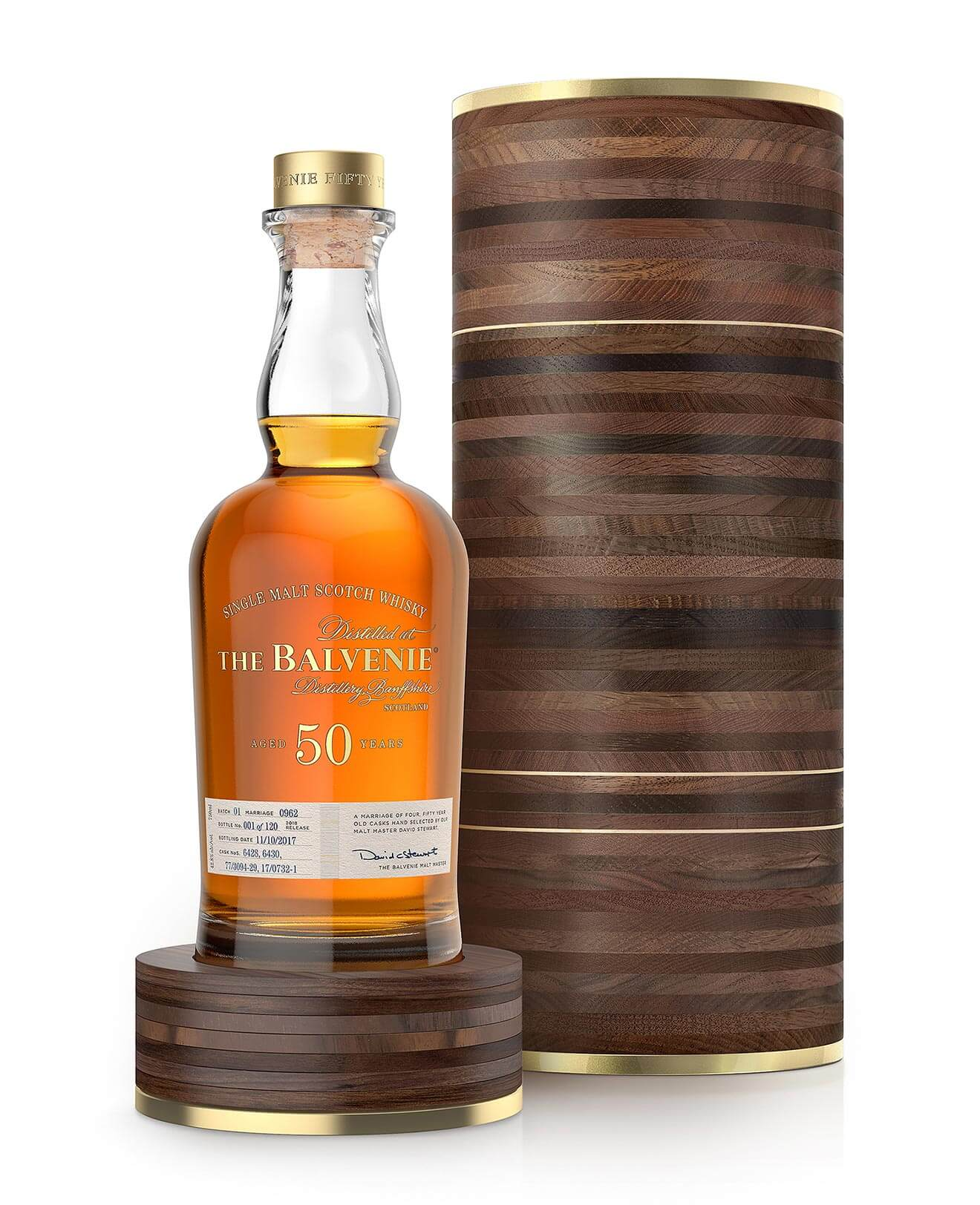The Balvenie Fifty Marriage 0962, bottle and packaging