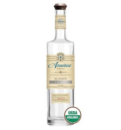 Azuñia Tequila, bottle on white, featured image
