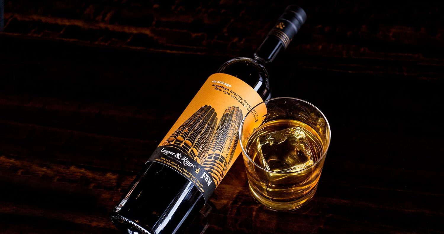 Copper & Kings via chicago, bottle and glass, featured image
