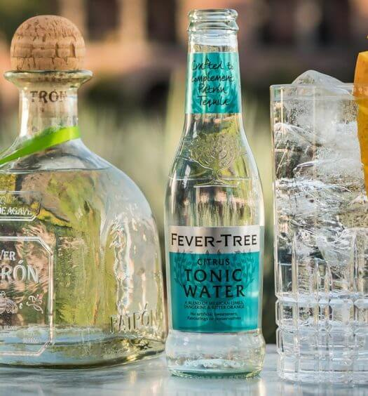 Fever-Tree Citrus Tonic, bottles on table, with garnish, featured image