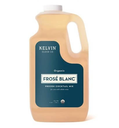 Kelvin Frosé Blanc, bottle on white, featured image