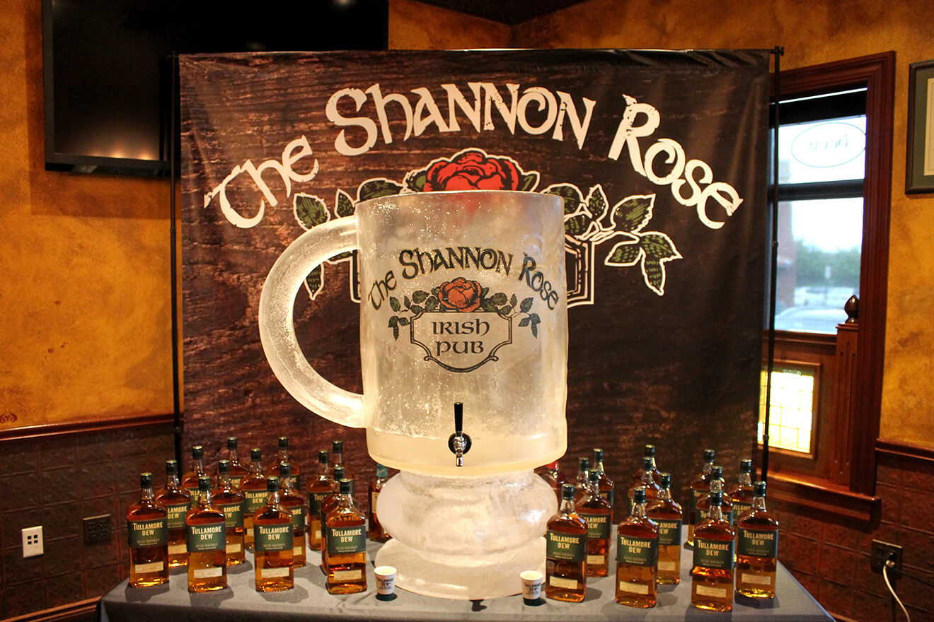 The Shannon Rose Irish Coffee Display with Bottles