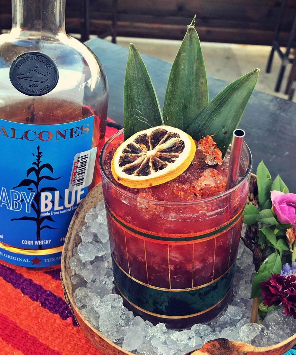 southern blues punch balcones cocktail