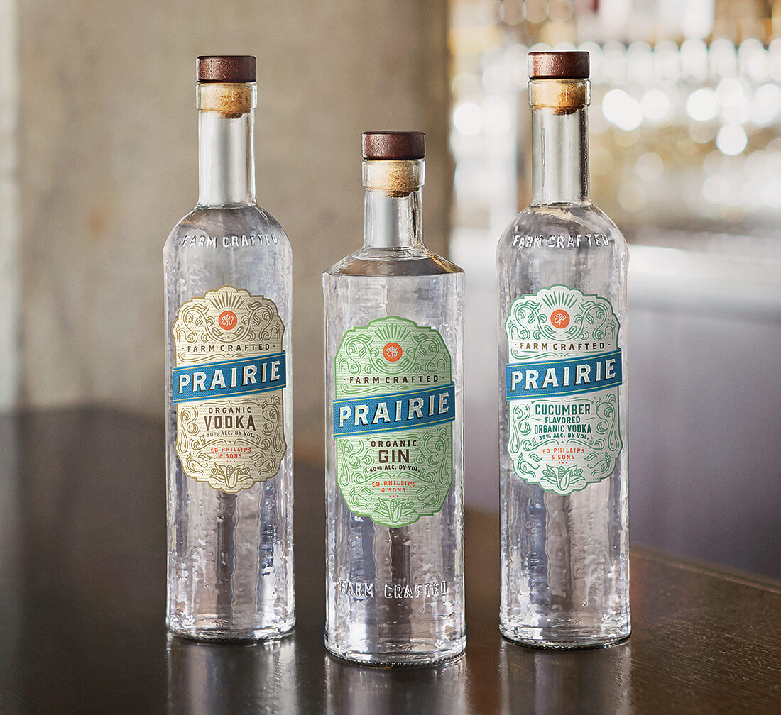 Prairie Organic Spirits, bottle varieties