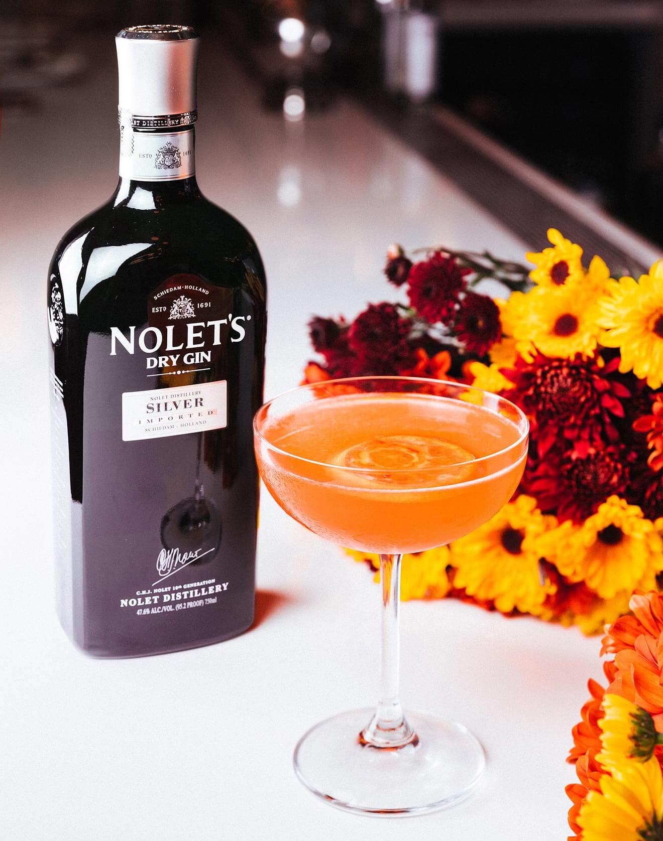 Silver Autumn Blossom Cocktail