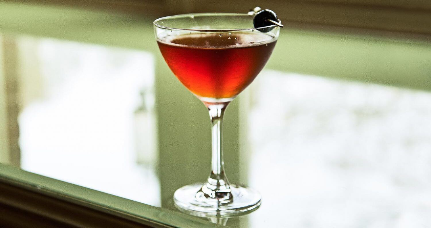 the manhattan cocktail, window, featured image