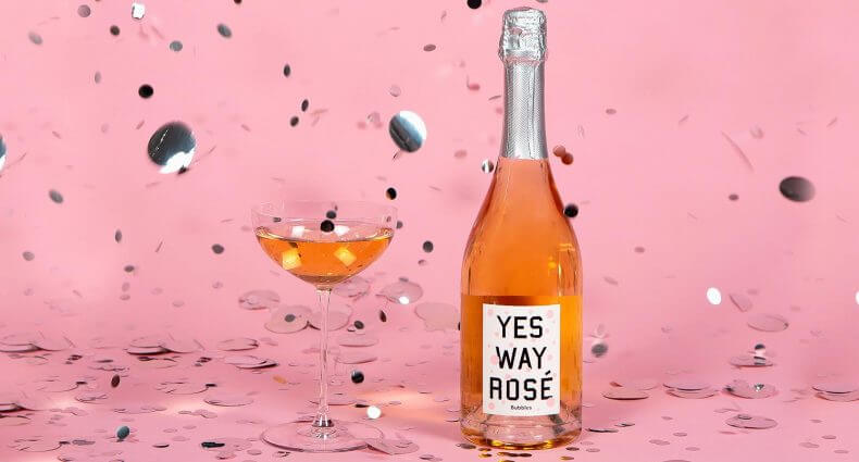 Yes Way Rosé Bubbles, rose and champagne, featured image