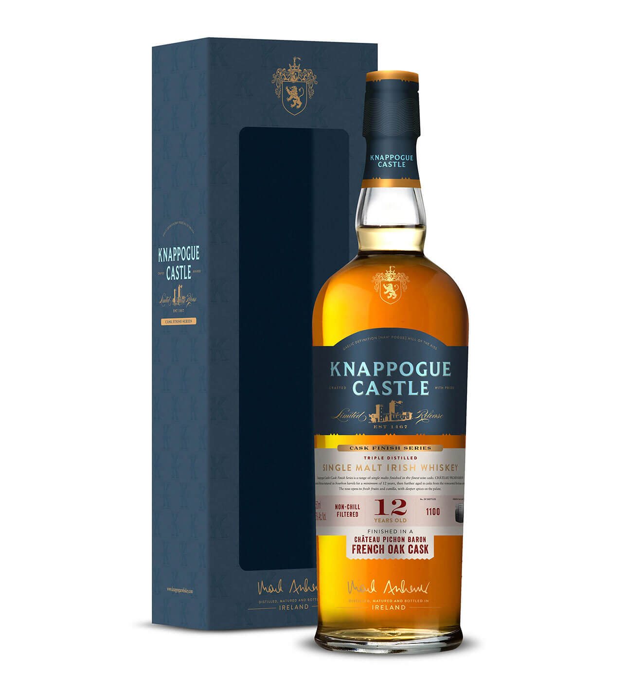 Knappogue Castle Irish Whiskey French Oak Cask