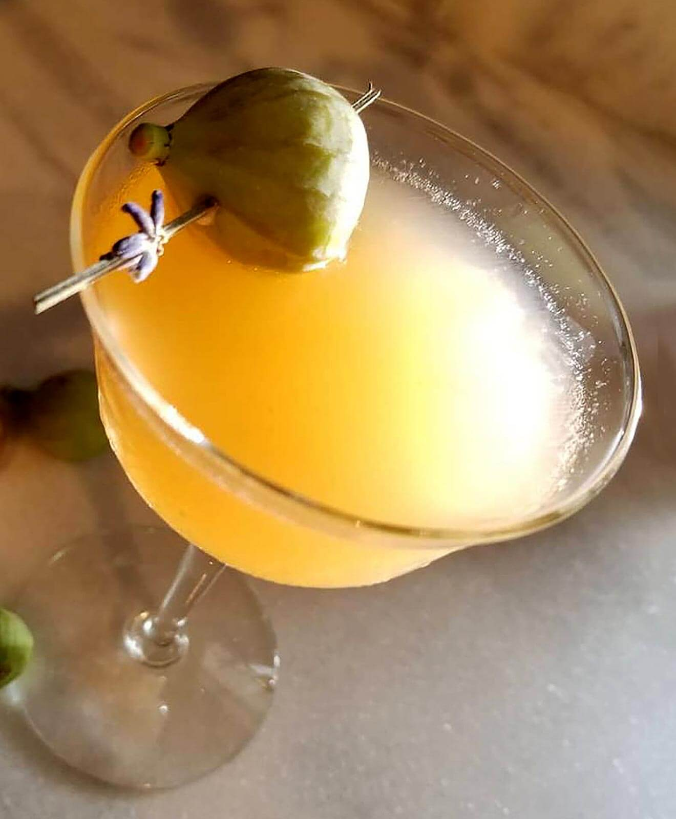 Thick as Leaves, cocktail with garnish