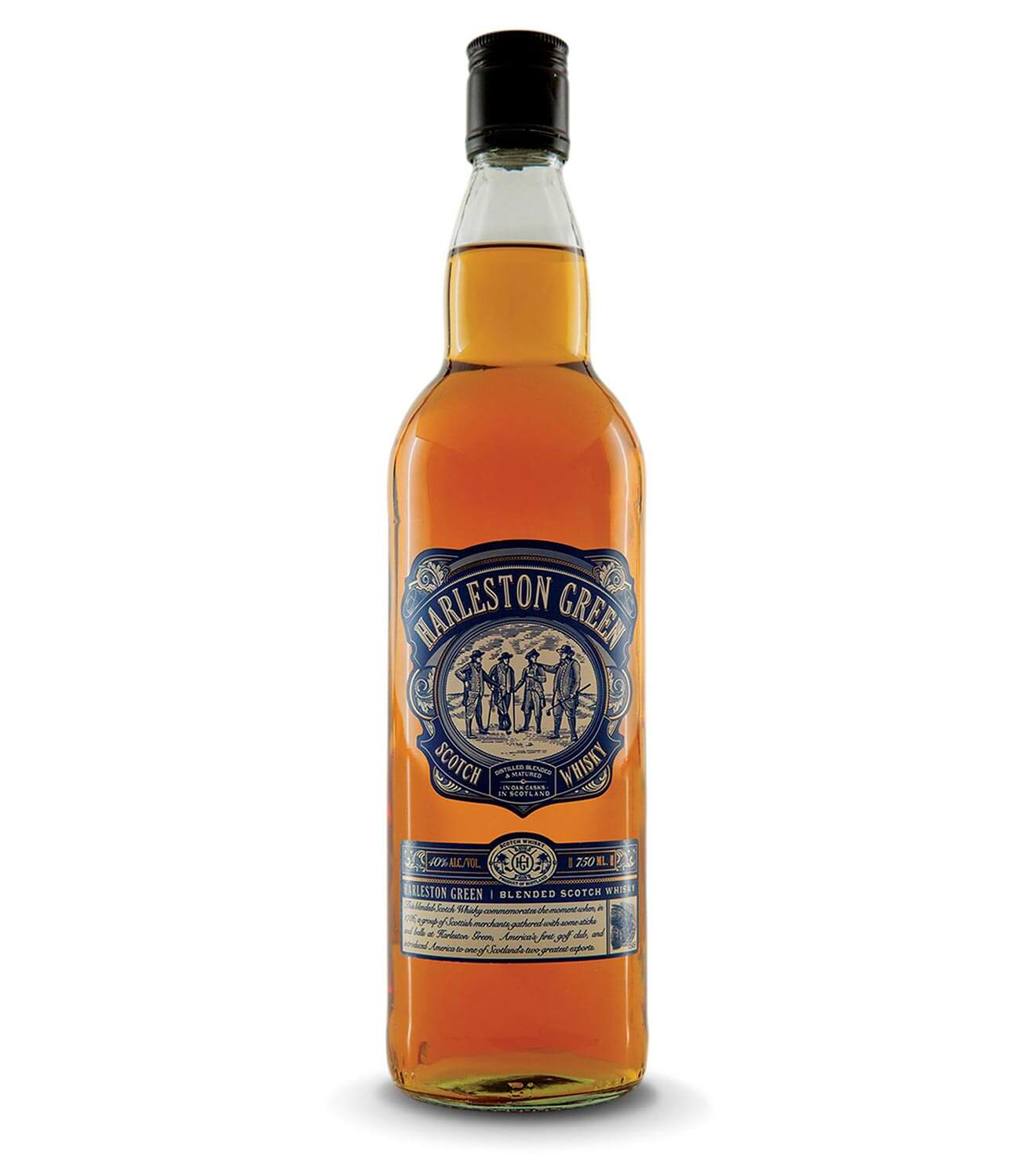 Harleston Green Scotch Whisky, bottle on white