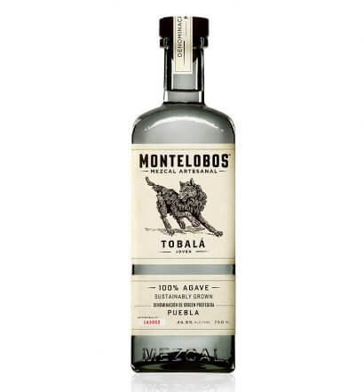 Montelobos Tobalá, bottle, shots and bowl of garnish, featured image
