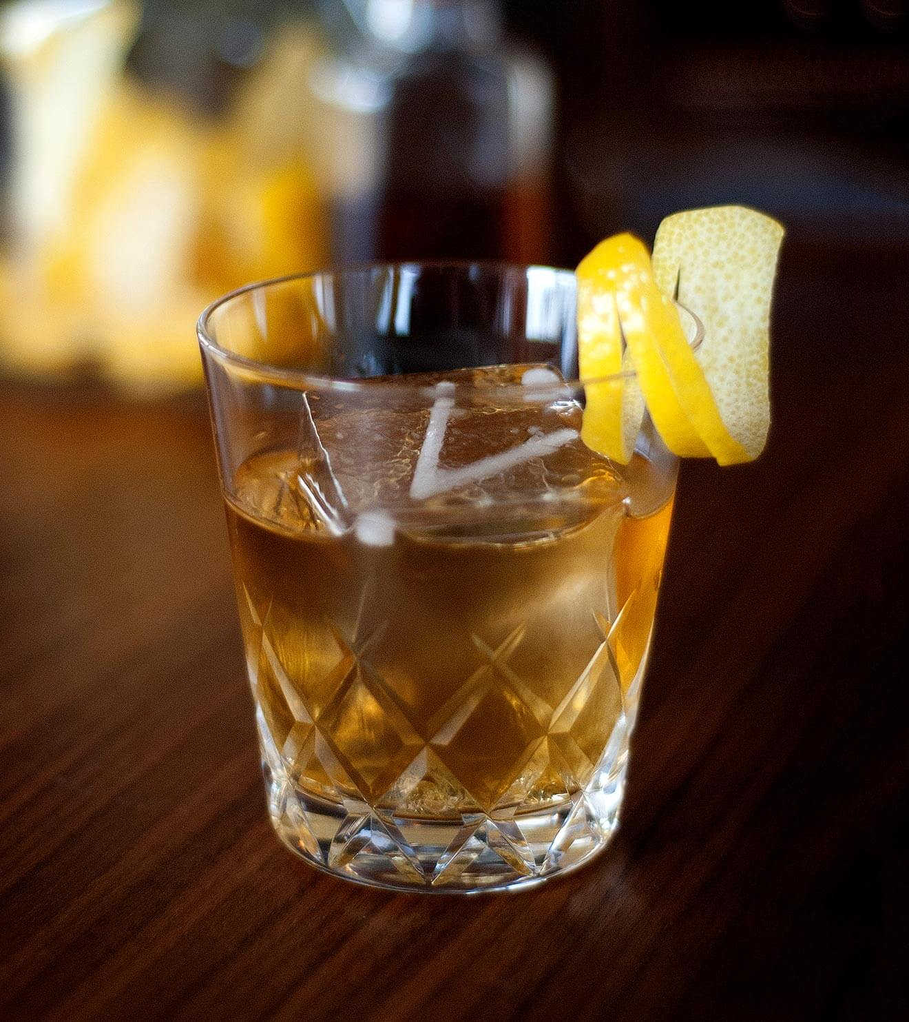 REVEL Old Fashioned, cocktail with garnish