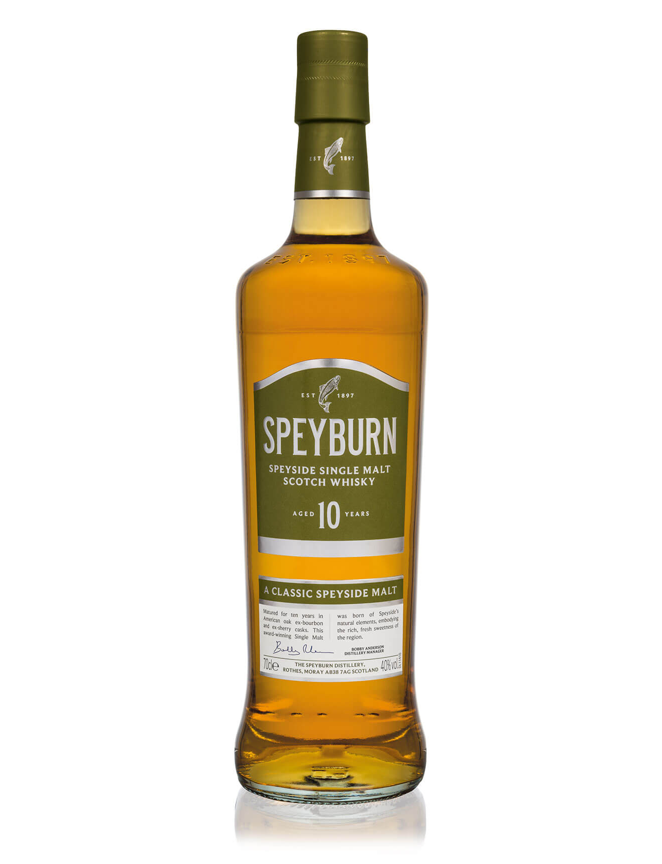 Speyburn 10 Year Old, bottle on white