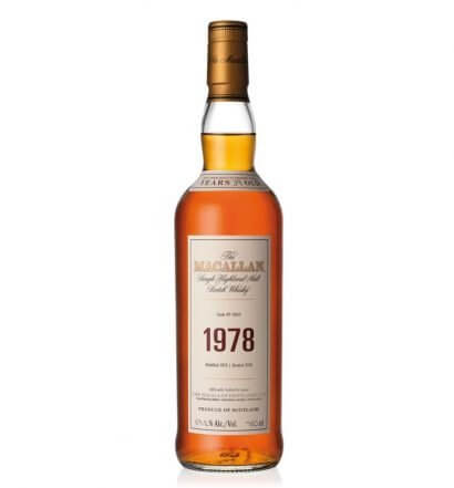 The Macallan 1978 Fine & Rare Whisky, bottle on white, featured image