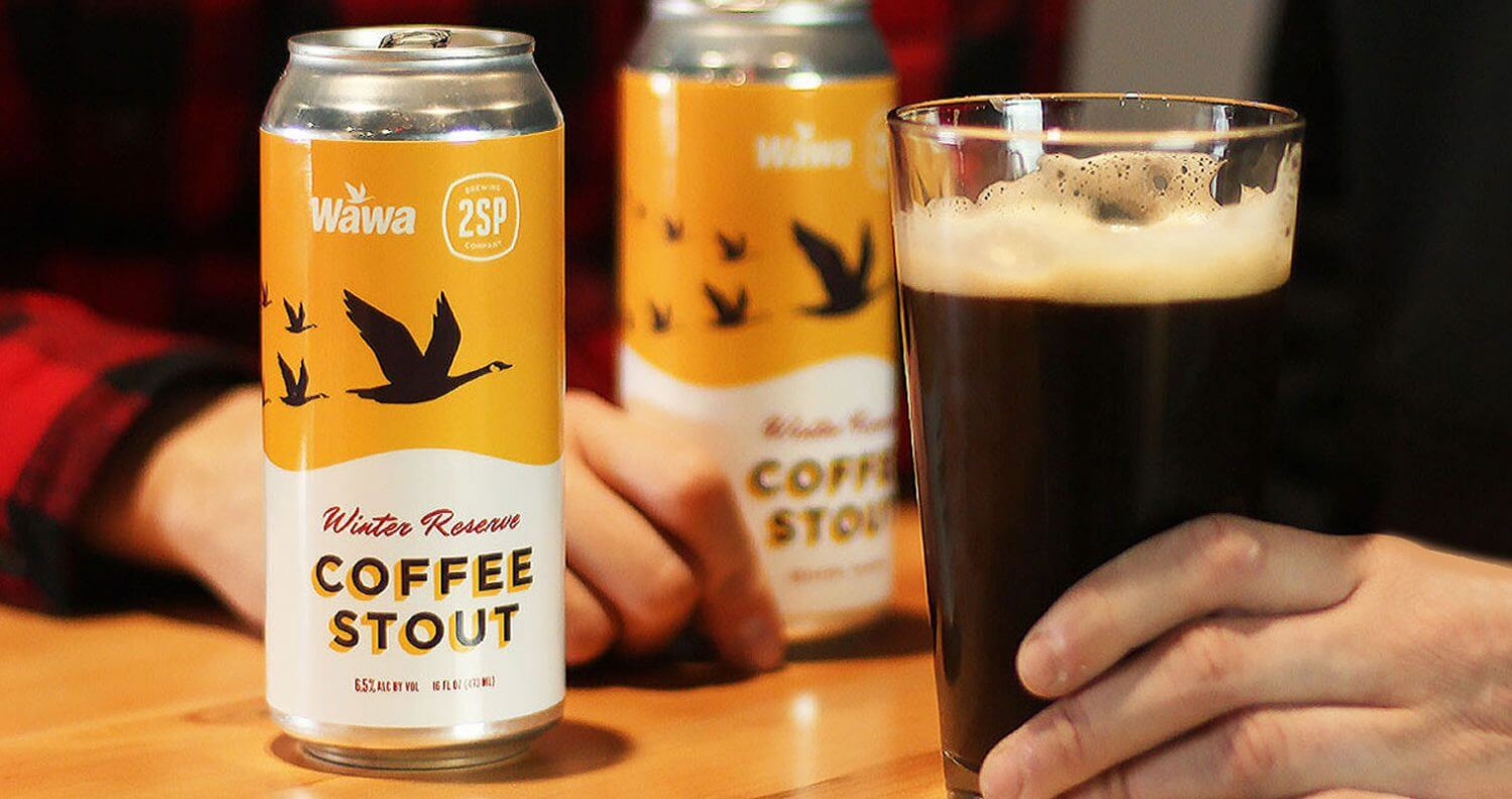 Winter Reserve Coffee Stout, cans and draft pour, featured image