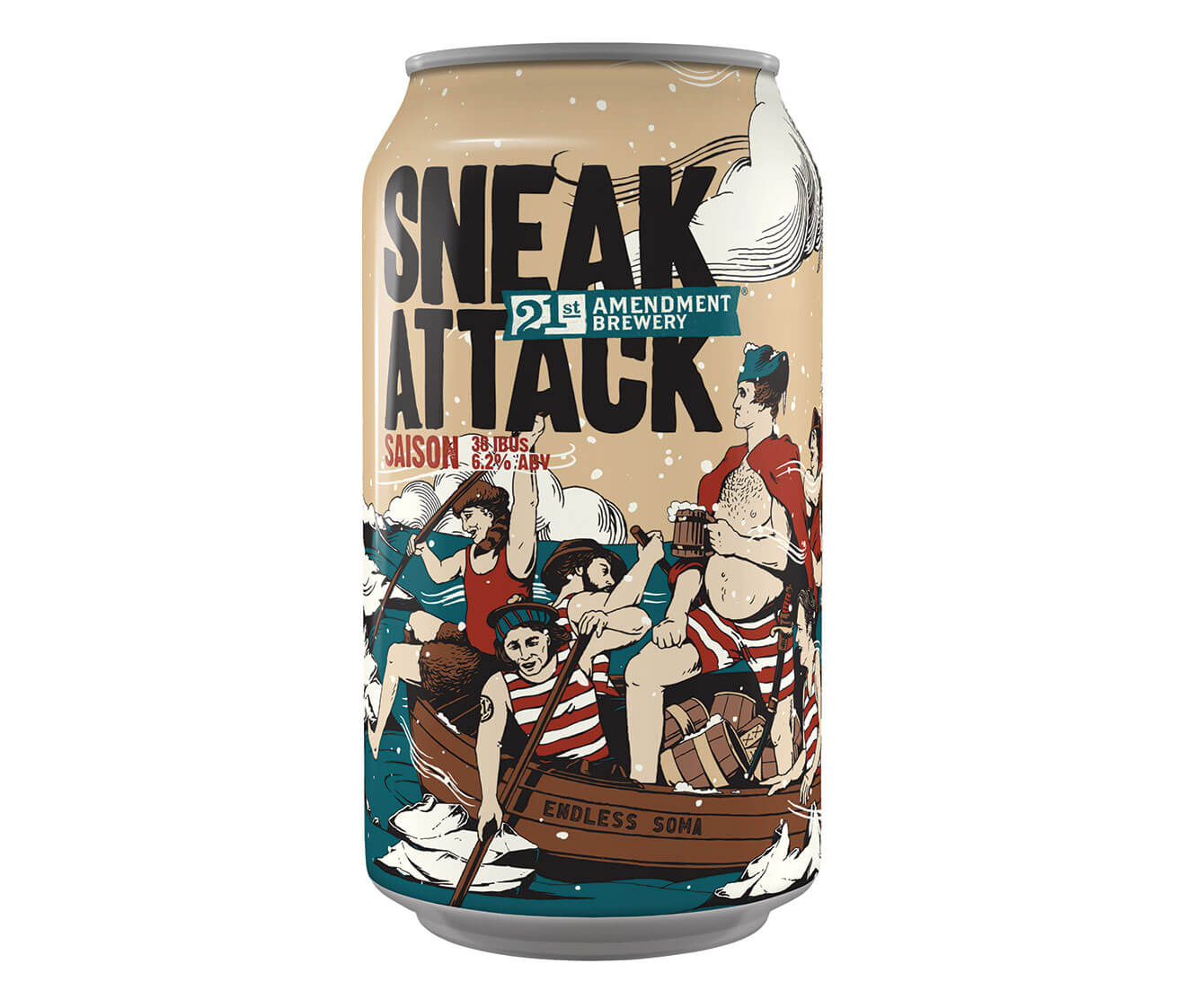 21st Amendment Brewing Sneak Attack, can on white