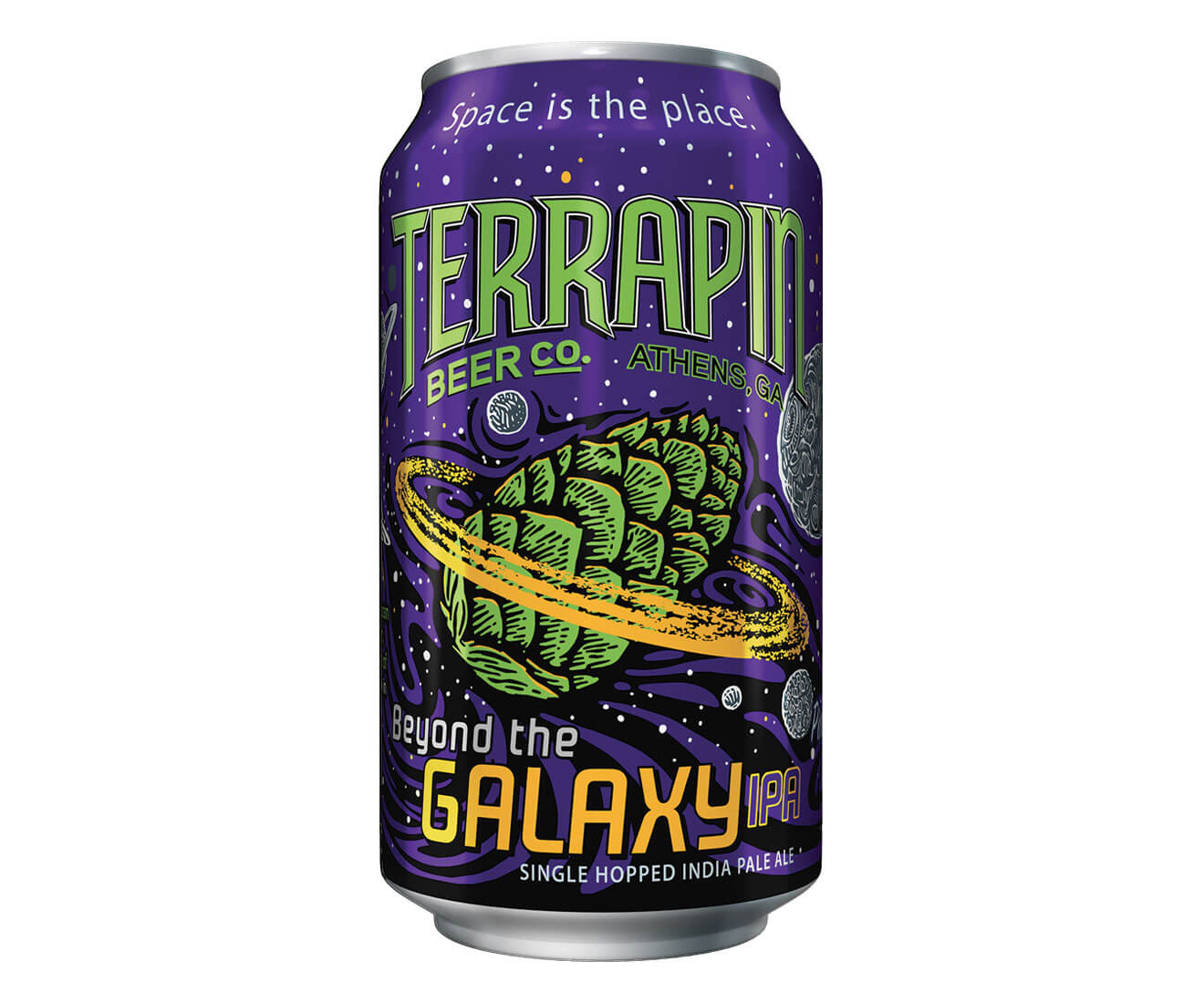 Terrapin Beer Company Beyond the Galaxy IPA, can on white