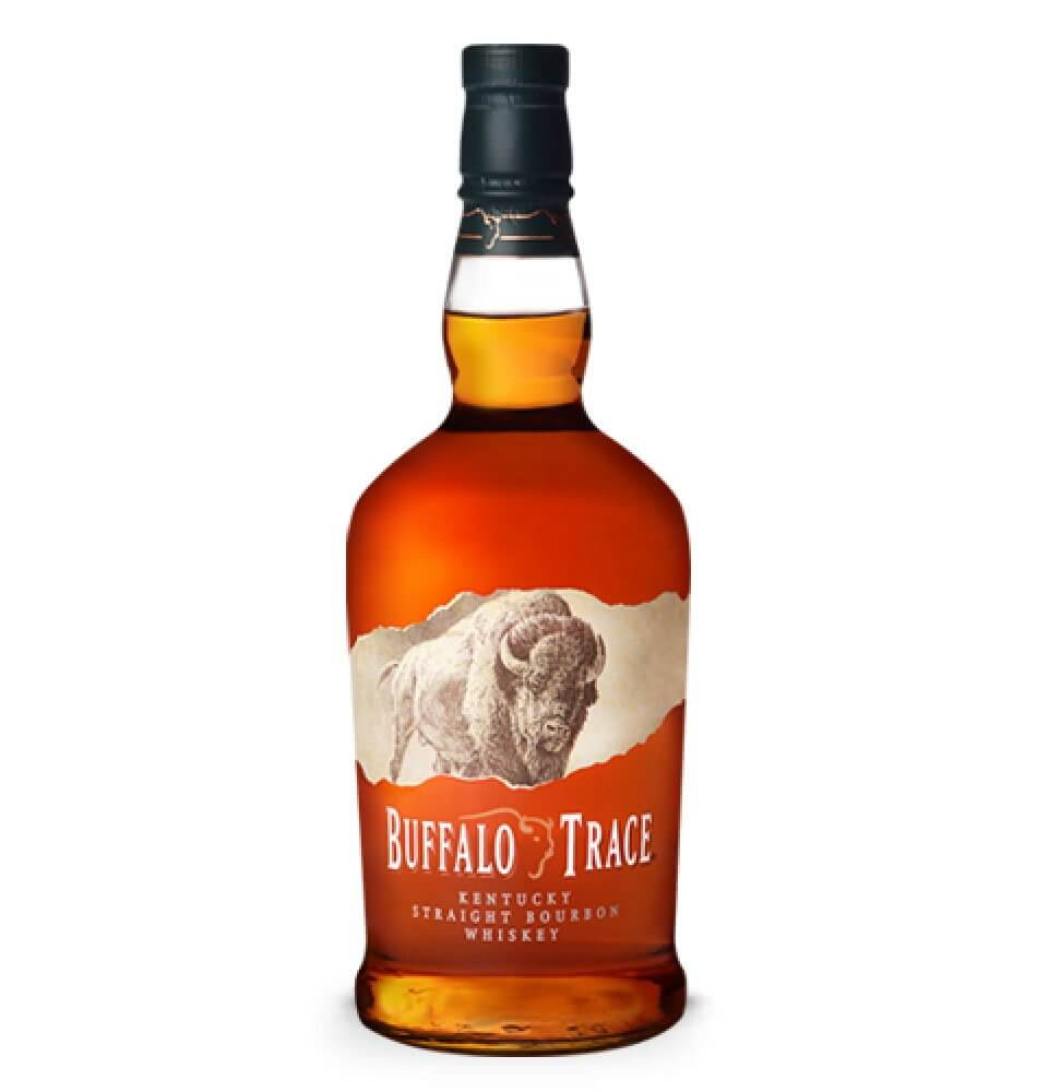 Buffalo Trace Kentucky Straight Bourbon Whiskey, bottle on white