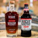 Rolling Thunder Stout & Whiskey, bottles on barrel, featured image