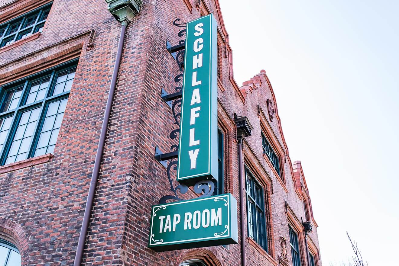 Schlafly, exterior signage