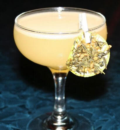 The Cardi Tea, cocktail with garnish, featured image
