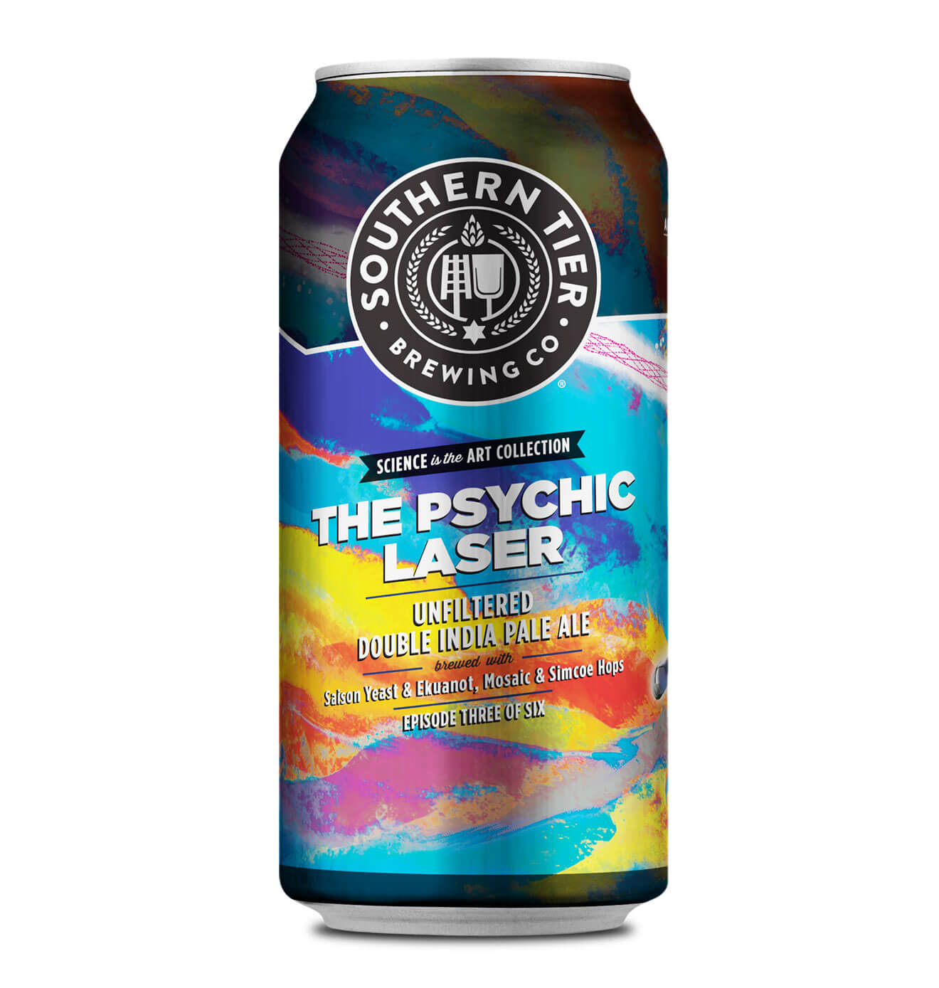 Southern Tier Brewing Company The Psychic Laser, can on white