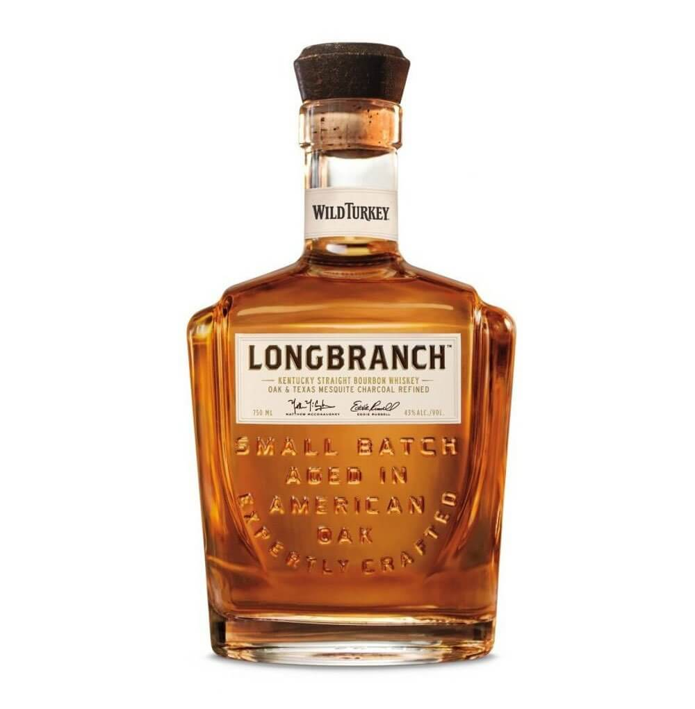 Wild Turkey Longbranch, bottle on white